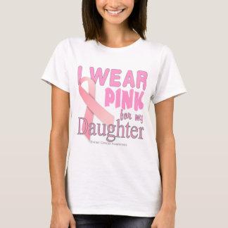 Ich trage Rosa für mein Tochter Krebs-Bewusstsein T-Shirt