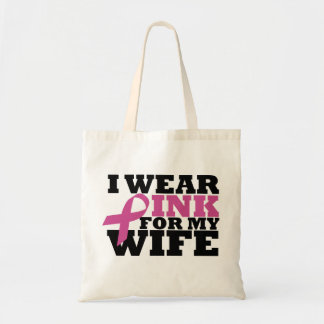 Ich trage Rosa für meine Ehefrau-Tasche Budget Stoffbeutel