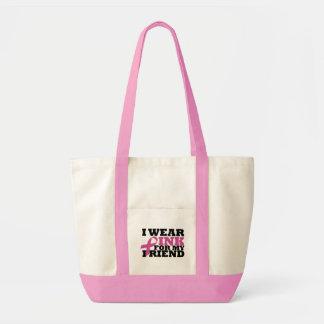 Ich trage Rosa für meine Freund-Tasche Impulse Stoffbeutel