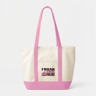 Ich trage Rosa für meine Freundin-Tasche Impulse Stoffbeutel