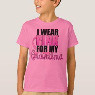 Ich trage Rosa für meine Großmutter - Brustkrebs T-Shirt