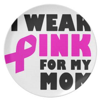 ich trage Rosa für meine Mutter Melaminteller
