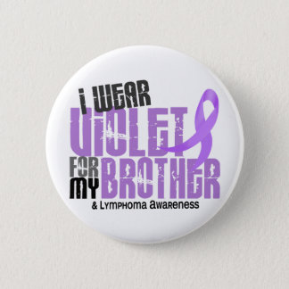 Ich trage violetten Morbus Hodgkin des Bruder-6,2 Runder Button 5,1 Cm