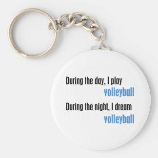 Ich träume Volleyball Schlüsselanhänger