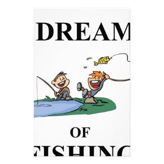 Ich träume vom Fischen Briefpapier