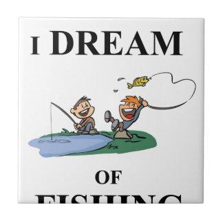 Ich träume vom Fischen Keramikfliese