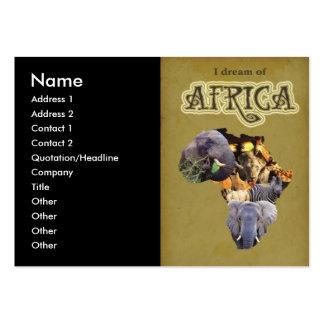 Ich träume von Afrika-Visitenkarte