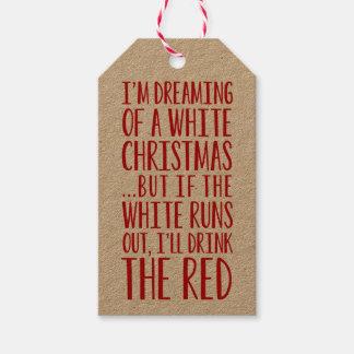 Ich träume von einem weißen Weihnachten Geschenkanhänger