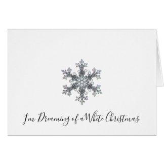 Ich träume von einem weißen Weihnachten - Karte