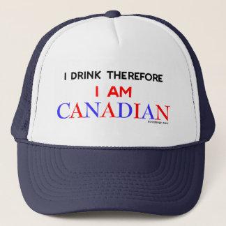 Ich trinke deshalb mich bin kanadisch truckerkappe
