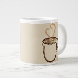 Ich trinke Kaffee für Ihre Schutz-Tasse Jumbo-Tasse