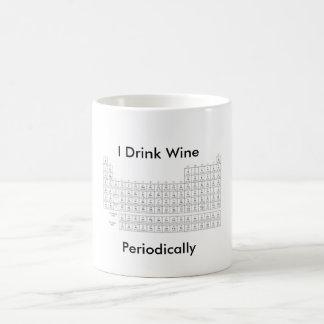 Ich trinke Wein mit Periodensystem Kaffeetasse
