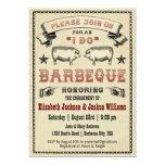 ICH TUE GRILLEN - Vintage Schwein-Braten-Einladung