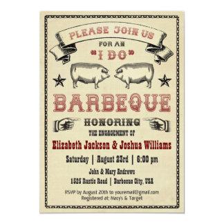 ICH TUE GRILLEN - Vintage Schwein-Braten-Einladung 12,7 X 17,8 Cm Einladungskarte