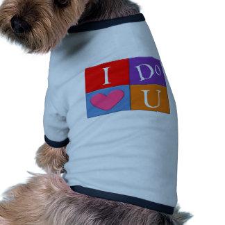 Ich tue Hundeshirt des Herz-U