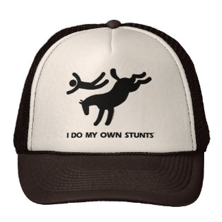 Ich tue mein eigenes Stunts™ Pferd: humorvolles Bi Truckermütze