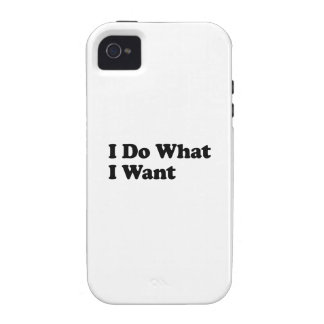 Ich tue, was ich will iPhone 4 cover