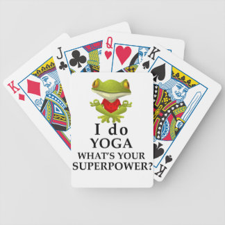 ich tue Yoga, welches s Ihr SuperPower Bicycle Spielkarten