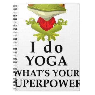 ich tue Yoga, welches s Ihr SuperPower Spiral Notizblock