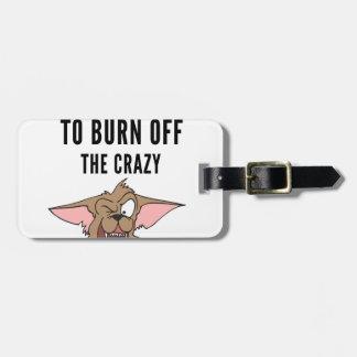 Ich tue Yoga zum Brand vom verrückten (2) Kofferanhänger