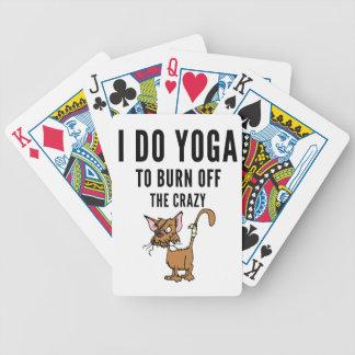 Ich tue Yoga zum Brand vom verrückten Bicycle Spielkarten