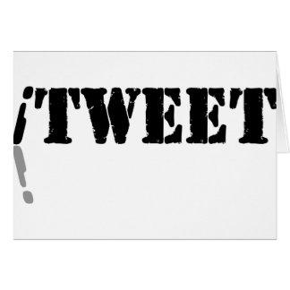 Ich tweete grußkarte