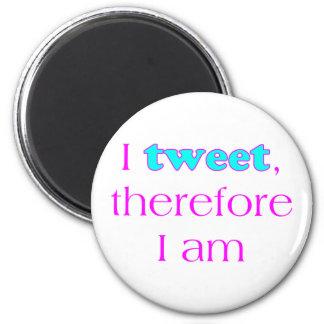 Ich tweete runder magnet 5,1 cm