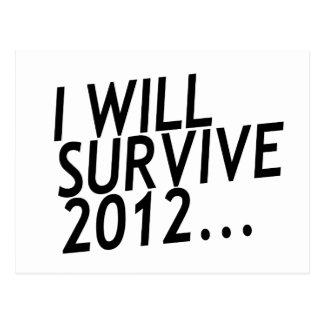 Ich überlebe 2012 postkarte
