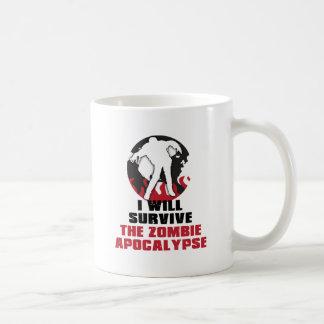 Ich überlebe die Zombie-Apokalypse Kaffeetasse