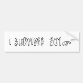 Ich überlebte 2016 autoaufkleber