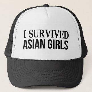 Ich überlebte asiatische Mädchen Truckerkappe