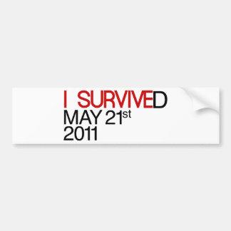 Ich überlebte autoaufkleber