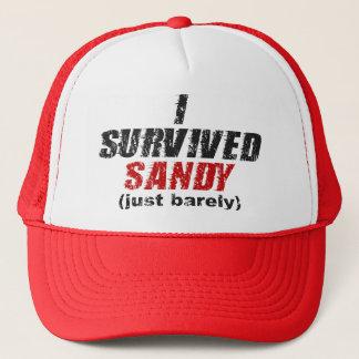 Ich überlebte beunruhigten Hut Sandys (gerade Truckerkappe
