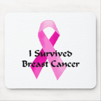Ich überlebte Brustkrebs Mousepad
