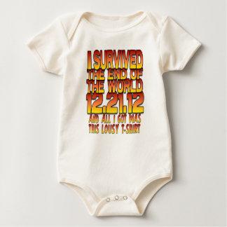 Ich überlebte das Ende der Welt - 12-21-12 - mies Baby Strampler