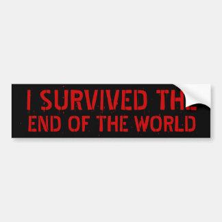 Ich überlebte das Ende des WeltAutoaufklebers Autoaufkleber