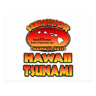 Ich überlebte den Hawaii-Tsunami am 3. März 2011 Postkarte