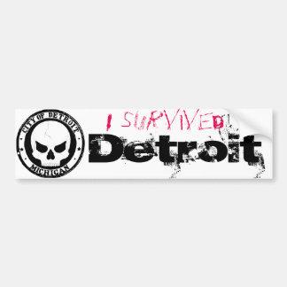 Ich überlebte Detroit Autoaufkleber