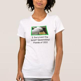 Ich überlebte die großen Queensland-Fluten von BW T-Shirt