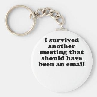 Ich überlebte eine andere Sitzung, die gewesen Standard Runder Schlüsselanhänger