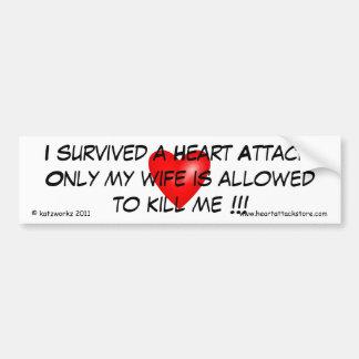 Ich überlebte einen Herzinfarkt Autoaufkleber