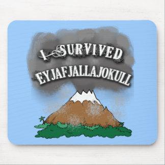 Ich überlebte Eyjafjallajokull T-Shirts, Tassen, Mousepad