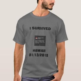 ICH ÜBERLEBTE Hawaii-Raketenangriff 2018 T-Shirt