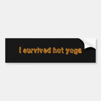 Ich überlebte heißes Yoga Autoaufkleber