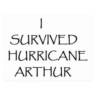 Ich überlebte Hurrikan Arthur Postkarte