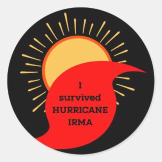 Ich überlebte Hurrikan Irma Runder Aufkleber
