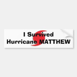 Ich überlebte Hurrikan MATTHEW Autoaufkleber