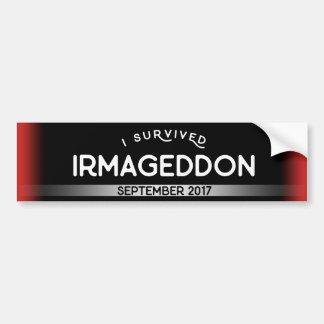 Ich überlebte Irmageddon Autoaufkleber