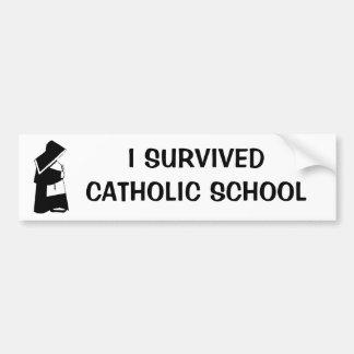 Ich überlebte katholische Schule und Nonne in der Autoaufkleber