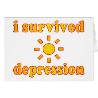 Ich überlebte Krisen-Gesundheits-Glück Karte